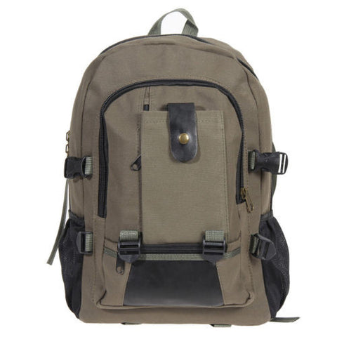 Men Canvas Backpack School Vintage Satchel Shoulder Laptop Bag