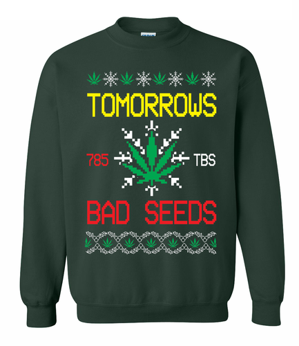 Bad Seed Holiday Sweater Green