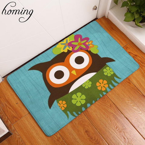 4 product chick sticks tropical cute fun aloha owl floor mat