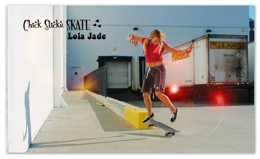 lola jade cimmino chick sticks skateboards girls skate bomb squad team board