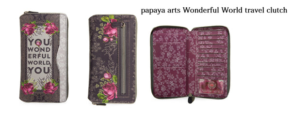 -Wonderful-World-Passport-Holder wonderful world its a wonderful you beautiful classy upscale floral brown taupe creme brown business chick sticks sale