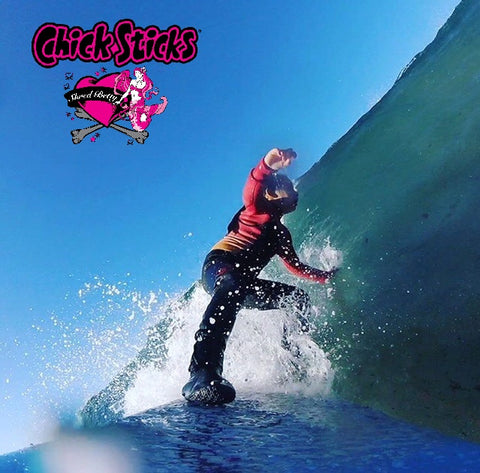 chick sticks youth grom girls surfboards competition lola jade cimmino surf brand shred betty surfer girls going down the line