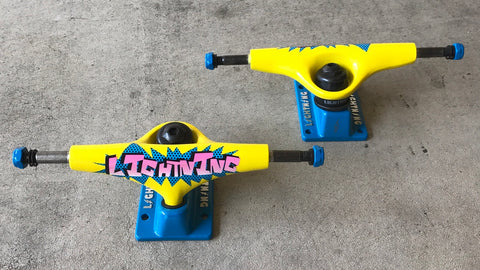 lightning pop blue black pink skateboard trucks 5 inch limited edition discontinued wholesale skate components