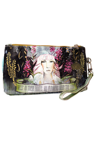 papaya art multi purpose wallet wristlet bag owl magic of new beginnings pastel thistle bliss owls gypsy rose wild at heart rain child rainbow prosperity snowy spruce roots starlet peacock floral lwya love who you are rose vintage girl designs inspirational quote original art sale 3