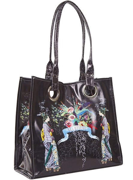 papaya art large structured luxe tote shopper overnight crafts inspirational bag starlet peacock beautiful floral live in the sunshine sale