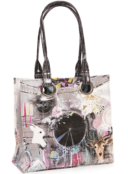 papaya art large structured luxe tote shopper overnight crafts inspirational bag starlet peacock dreamcatcher bunny live in the sunshine sale