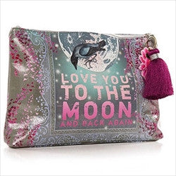 papaya art love you to the moon and back large accessory pouch sale