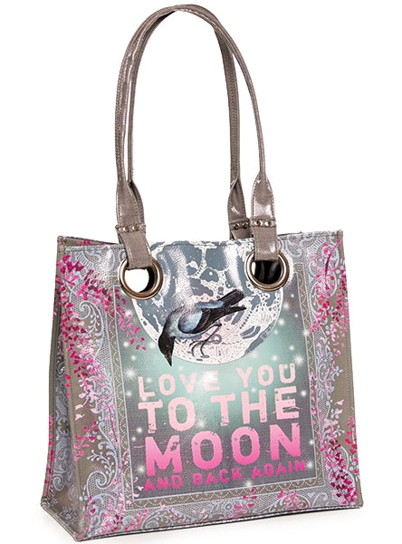 papaya art large structured luxe tote shopper overnight crafts inspirational bag love you to the moon and back pink blue dream starlet peacock live in the sunshine sale
