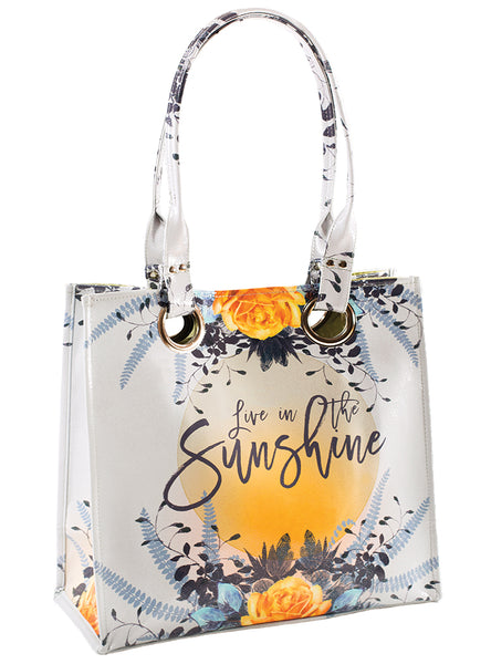papaya art large structured luxe tote shopper overnight crafts inspirational bag starlet peacock live in the sunshine sale
