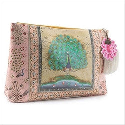 papaya art starlet peacock large accessory pouch sale