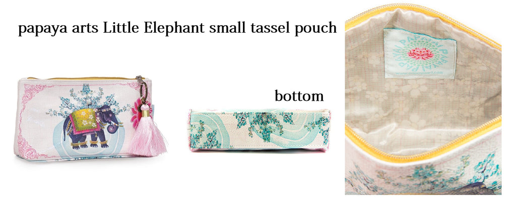 papaya arts little indian elephant wedding floral pink sweet baby child mother violet make up accessory travel school work bag chick sticks sale
