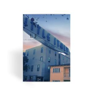 Little Italy San Diego Calif Greeting Card - Little Italy. On my Birthday. Memories. San Diego, California.