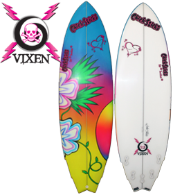 Girls Womens Surfboards Chick Sticks Vixen Fish Lola Jade Brand