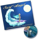 Collectible Surf Angel Gift Set Hardcover Book Signed by Author with DVD, Star Fish Hair Clips and Surf Angel Glitter Gift Set