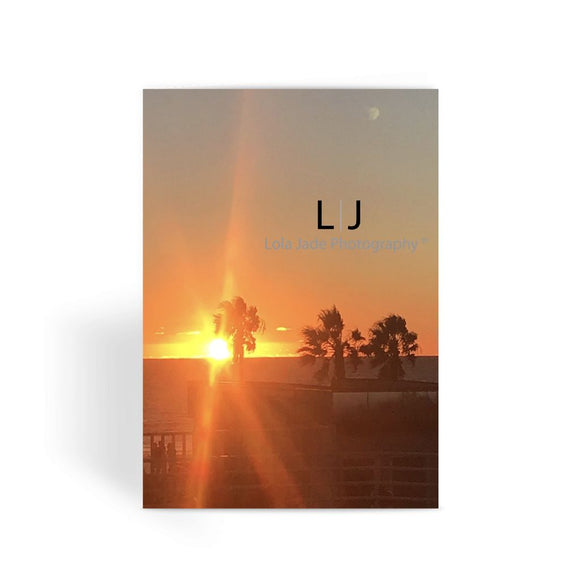 Rooftop Sunset Greeting Card