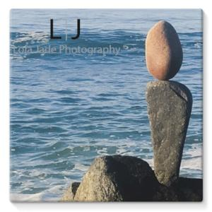 Stretched Canvas - Balance. Wisconsin Street. Oceanside, California - Choose from 8 Sizes lola jade cimmino surf art sculpture rock art photography