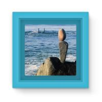 Magnet Frame - Balance. Wisconsin Street. Oceanside, California Choose Blue, Green or Red Frame