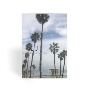 Tower 8. Palms Greeting Card - Tower 8. Oceanside Pier. North Strand.