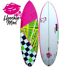 Chick Sticks Hoochie Mod ♥ Girls Surfboard 5 Fin Option Performance Egg
