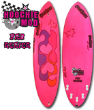 girls surfboards Chick Sticks Pro Series Hoochie Mod 5 Fin Option High Performance Stringerless Epoxy Hydroflex Glassing System