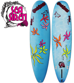 Chick Sticks Sea Siren Wahine ♥ Girls Surfboard Performance 7.6 Mini Nose Rider