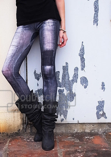 denim look one size fits all jegging pantSuper Fun Super Cute Spandex Faux Jeggings ONLY $10