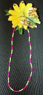 Jewelry ~ Izzy's Ice Pink Beaded Necklace with Shell & Bracelet ONLY $8