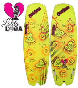 Chick Sticks Lolita Loca ♥ Girls Surfboard Performance Twinzer Planing Hull - 5' 6""