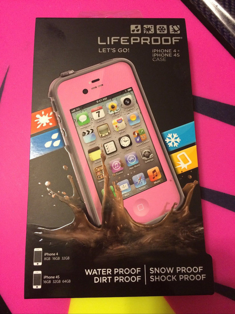 Lifeproof Phone Case iPhone 4 & 4s Pink Water Proof Shock Proof
