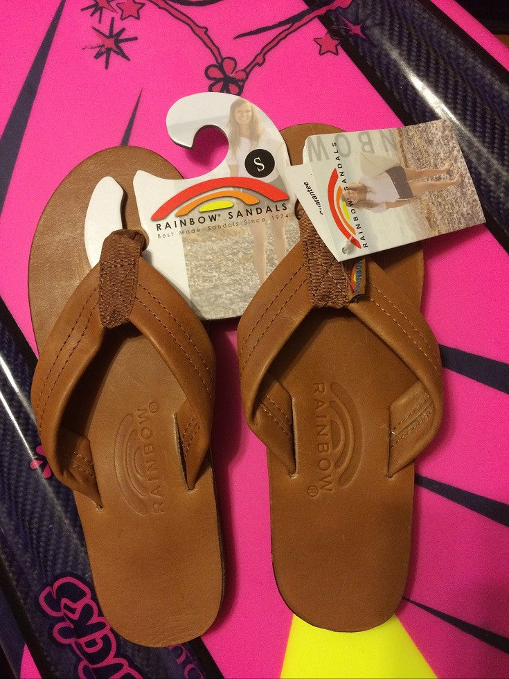 Rainbow Sandals Leather Tan Womens Size Small
