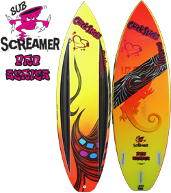 chick sticks pro series sub screamer epoxy thruster surfboard summer surf carbon stringerless eps