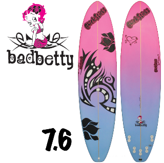 womens girls surfboard 7 foot 6 mini longoboard best usa made chick sticks bad betty lola jade brand