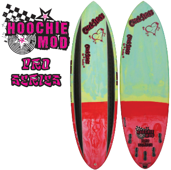 Chick Sticks Pro Series Hoochie Mod 5 Fin Option High Performance Stringerless Epoxy Hydroflex Glassing System Resin Tint