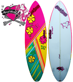 Chick Sticks Shred Betty ♥ Girls Surfboard Grom Youth Thruster