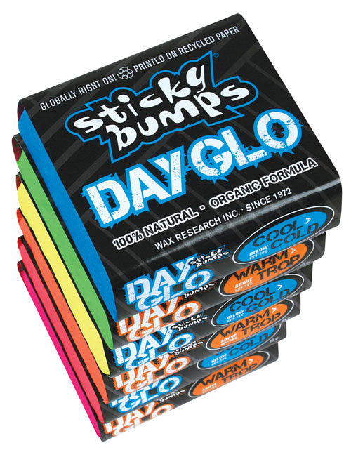 Sticky Bumps 7 pack Day Glo Wax