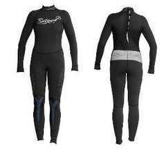 Exceed Eccentric 3/2 Girls Full Wetsuit ~ Black Glitter Rhinestones