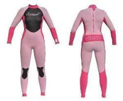 Exceed Eclectic 3/2 Ladies Girls Pink Full Wetsuit 2 4 6 8 10 12 Fuscia tattoo spunky sporty fun Full fancy cute sexy adorable different glitter swim surf dive Wetsuit Tattoo Glitter Ink that Sparkles in the Sun high quality 3/2 is made with E-Stretch neoprene for maximun fit and performance.  Flexible, waterproof pressure bonded seam tape and a YKK non corrosive zipper keep the water Out.  And a Key Holder