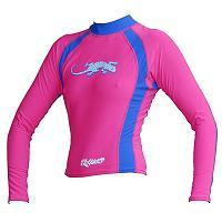 Exceed Evasive long sleeve Womens Rash Guard womens girls youth surf swim dive pink long sleeve rash guard fuscia pink blue small med large xl 1xl 2xl  and blue gecko design cute glitter ink Evasive Long sleeve Womens Rash Guard