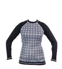 exceed established long sleeve rash guard black white classy for women surfers sup rafting swimming
