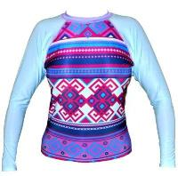 exceed wetsuits cute rashguard striped colorful front empire longsleeve purple light blue