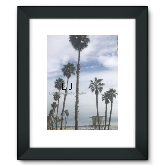 Tower 8. Palms Framed Fine Art Print