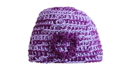 chick sticks girl by lola jade surfer skater hand made thick beanie in grape
