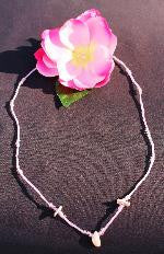 Izzy's Jewelry Soft Pink Shell Long Necklace Beach Jewelry, Beaded Hand Made Glass Necklaces Chokers Bracelets Earrrings, beads shells beach jewelry, California Made Jewelry, chick sticks, Fun Hand Made Necklaces, girls who make jewelry, Hand Made California Surfer Girl Jewelry, Hand Made Shell Necklace, home made from california, ice pink necklace and bracelet set, Izzys Jewelry, Lolas Jewelry, lolas stuff, pink lime yellow aqua black chokers, san diego jewelry, Skater Girl Jewelry, Surfer Girl Choker