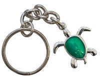 get back designs kelly green sea turtle key chain for surfers and ocean lovers from lola jade and chick sticks