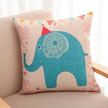 Lovely Good Fortune Elephant Throw Pillow Case Home Decorative Cushion Pillow Cover