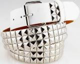 sick skater style studded blinged out fashion belts Notorious Silver Studded Belt