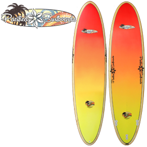 Pacifica Surfboards by Chick Sticks 8.0 EPS Mini Longboard
