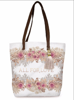 papaya art all for love floral bucket shopper tote sale 7