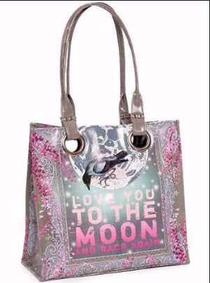 papaya art large structured luxe tote shopper overnight crafts inspirational bag love you to the moon and back pink blue dream starlet peacock live in the sunshine henna spiritual love sale
