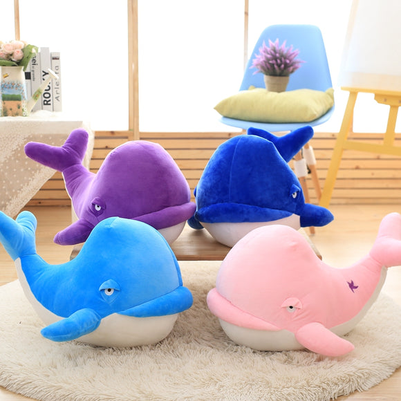 1pcs Soft Whale Stuffed Animal Toy Plush Whale Pillow Home Decor Birthday Gifts Christmas Gift